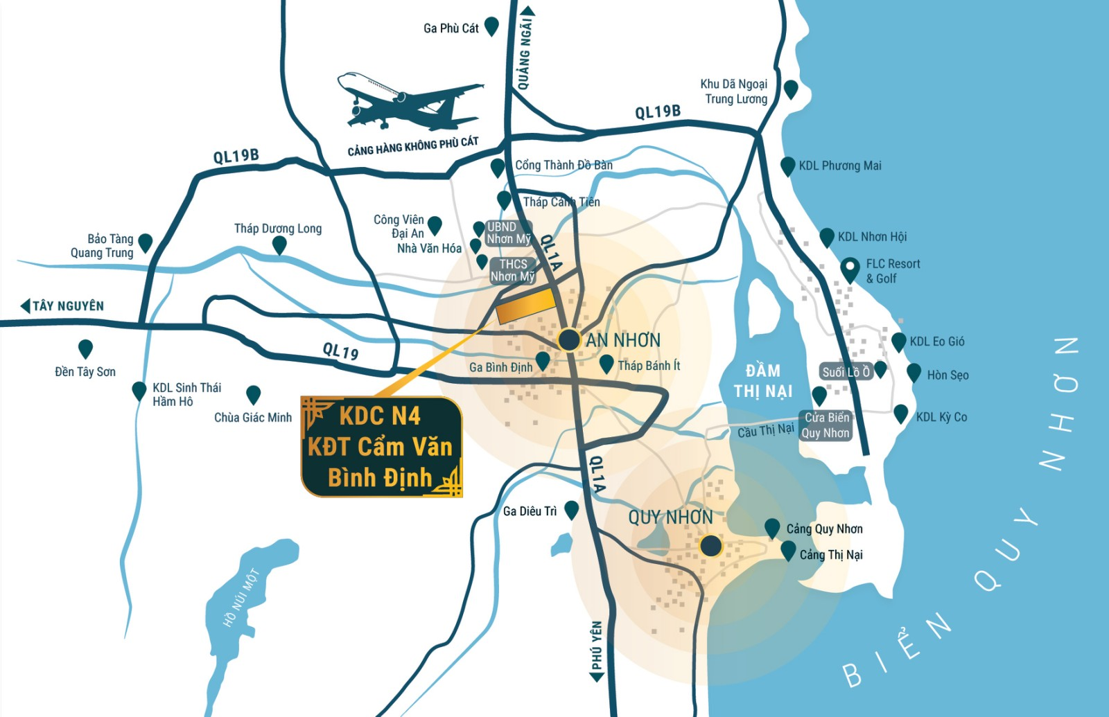Bản đồ vị trí khu đô thị cẩm văn