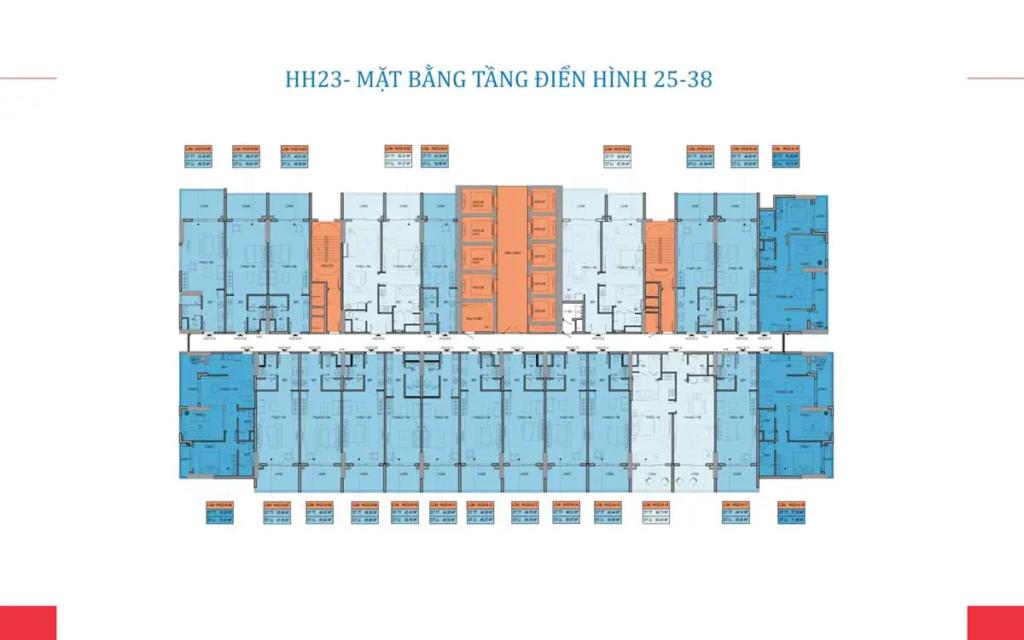 MẶT BẰNG TẦNG 25-38 TÒA HH23